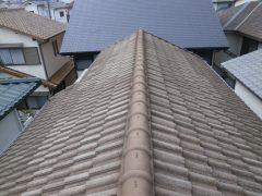 モニエル瓦の屋根塗装2