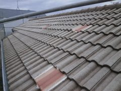 モニエル瓦の屋根塗装1