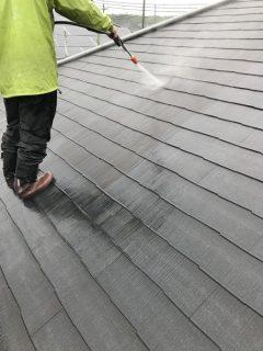 兵庫県明石市の外壁屋根を高圧洗浄