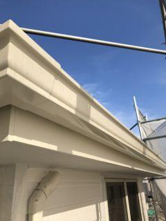 兵庫県明石市の外壁塗装(雨樋や破風板など)