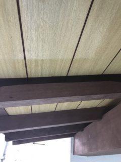 神戸市北区の木部塗装(防腐剤使用)