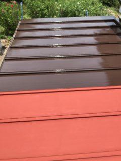 兵庫県丹波市瓦棒屋根の中塗り・上塗り