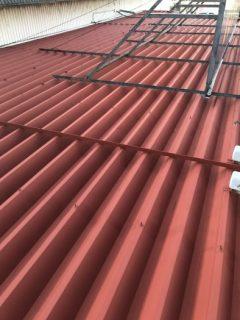 三木市折板屋根塗装工事